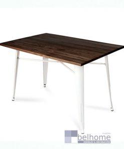 Mesa Volt blanca madera-pata blanca
