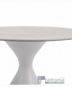 Mesa auxiliar Nadia aluminio blanco