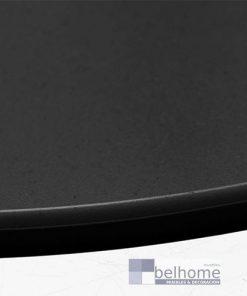 Mesa auxiliar Luna acero grafito