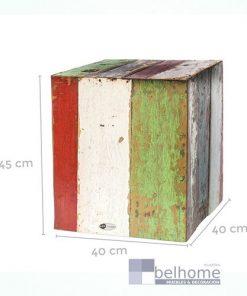 Mesa auxiliar bloque Calypso madera