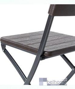 Silla plegable Logic HDPE marrón